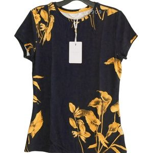 Ted Baker Blue Roslo Fantasia Floral Fitted Tee